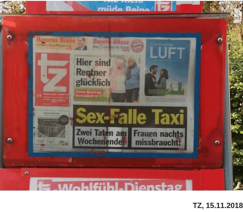 Titelblatt der TZ München mit Schlagzeile